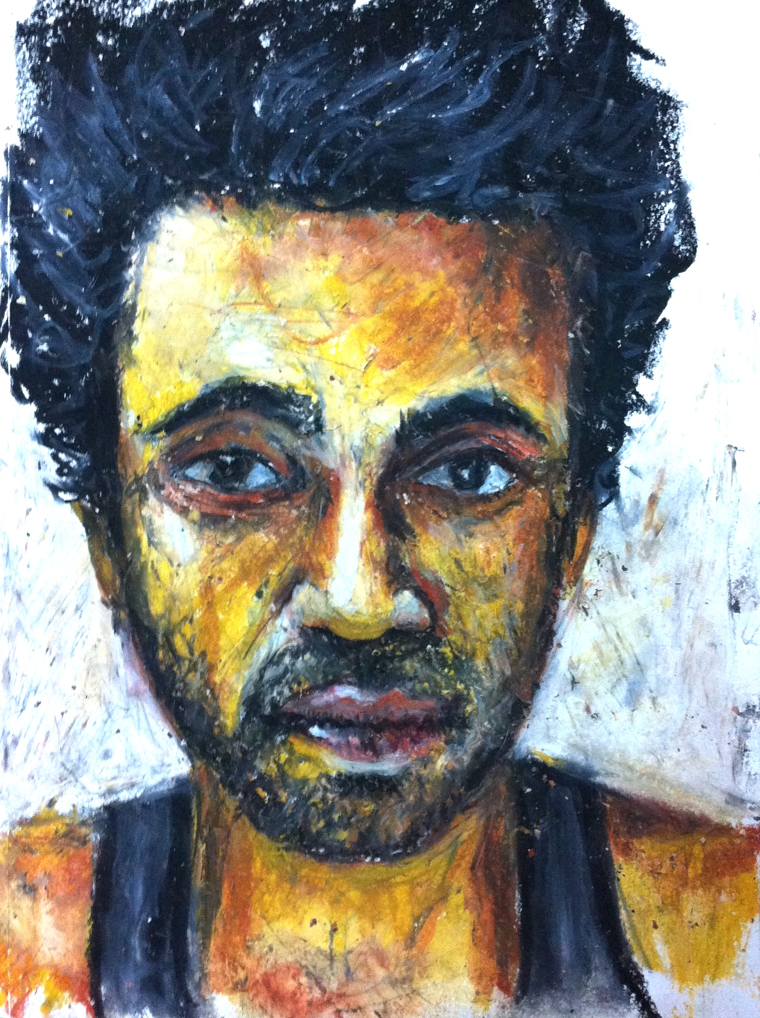 Dhaka Drawings 2015 : Self-portrait – Oil Pastels | RUHUL ABDIN