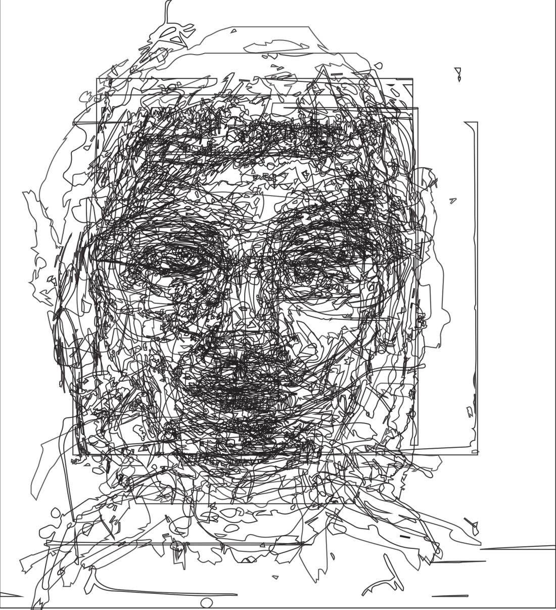 Lines of Portraits Black